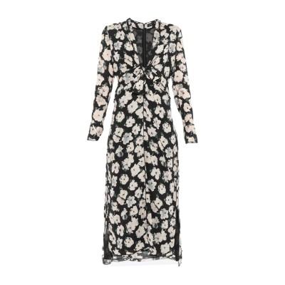 プロエンザスクーラー PROENZA SCHOULER 7分丈ワンピース・ドレス ブラック 4 シルク 100% 7分丈ワンピース・ドレス