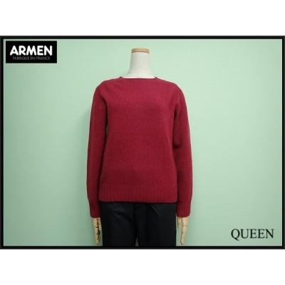 ARMEN 英国製ニット・0□アーメン/スコットランド製/ウールセーター/@A1/20*12*3-5