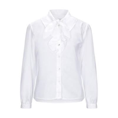 MERCI メルシー リボン付きシャツ&ブラウス  レディースファッション  トップス  シャツ、ブラウス  長袖 ホワイト