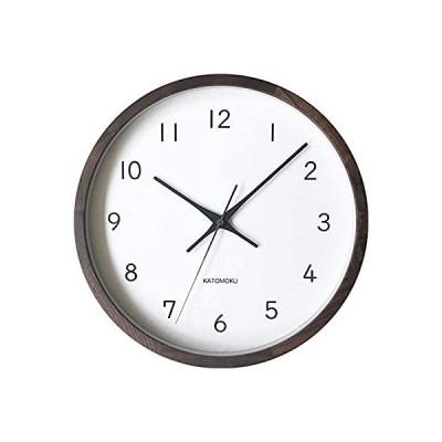 KATOMOKU muku clock 13 ウォールナット 電波時計 連続秒針 km-104WARC φ306mm (電波時計)