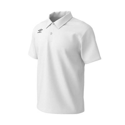 アンブロ(UMBRO) メンズ WRワンポイントドライポロ ホワイト×ブラック UMUPJA71 WHBK 半袖 ポロシャツ トップス カジュアル