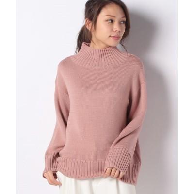 (Leilian PLUS HOUSE/レリアンプラスハウス)【my perfect wardrobe】ハイネックセ-タ-/レディース ピンク系