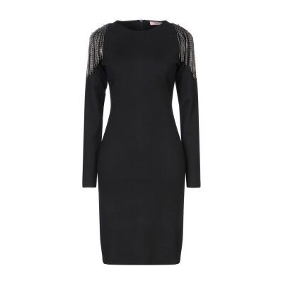 ツインセット シモーナ バルビエリ TWINSET ミニワンピース&ドレス ブラック S ポリエステル 44% / ナイロン 30% / アクリル