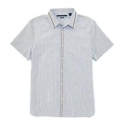 ペリーエリス メンズ シャツ トップス Slim-Fit Stripe Dobby Short-Sleeve Woven Shirt