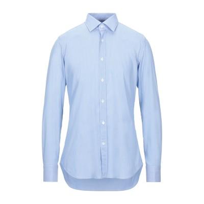 GUGLIELMINOTTI シャツ スカイブルー 42 コットン 70% / ナイロン 27% / ポリウレタン 3% シャツ