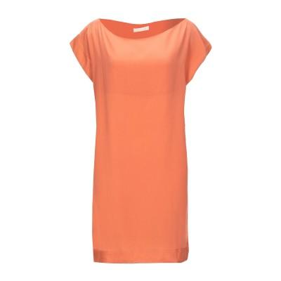 CA' VAGAN ミニワンピース&ドレス サーモンピンク XL シルク 100% ミニワンピース&ドレス