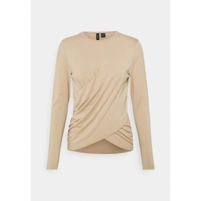 ヴェロモーダ カットソー レディース トップス VMPANDA DETAIL - Long sleeved top - beige