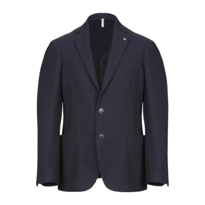 DOMENICO TAGLIENTE テーラードジャケット ダークブルー 48 コットン 60% / ポリエステル 40% テーラードジャケット