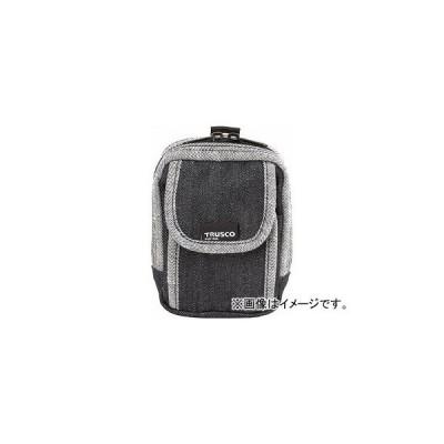 トラスコ中山 デニム携帯電話用ケース 2ポケット ブラック TDC-H102(7689918)