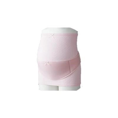 (妊娠初期〜後期)犬印しっとり保湿のはじめて妊婦帯セット(妊婦帯+補助ベルト)スクワラン配合繊維 腹巻タイプ妊婦帯 HB8179ピンク マタニティM・L