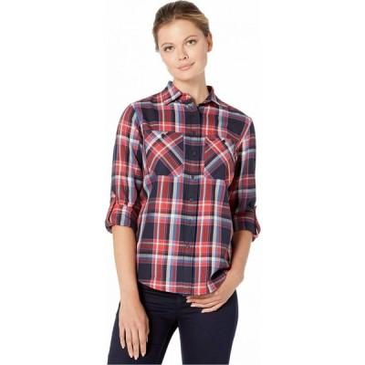 ラルフ ローレン LAUREN Ralph Lauren レディース ブラウス・シャツ トップス Plaid Cotton Twill Roll-Tab Shirt Lauren Navy Multi
