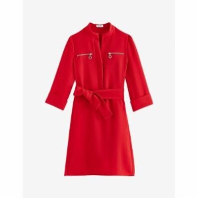 クローディ ピエルロ CLAUDIE PIERLOT レディース ワンピース ミニ丈 ワンピース・ドレス Zip-detail crepe mini dress RED
