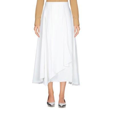 JIL SANDER NAVY ロングスカート ホワイト 36 100% レーヨン ロングスカート