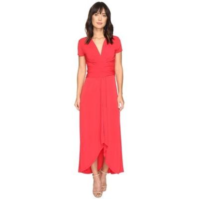 マイケルコース ワンピース レディース Short Sleeve Maxi Wrap Dress True Red