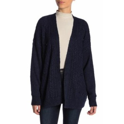Union ユニオン ファッション トップス 14th & Union NEW Blue Womens Size Small S Open Front Knit Cardigan