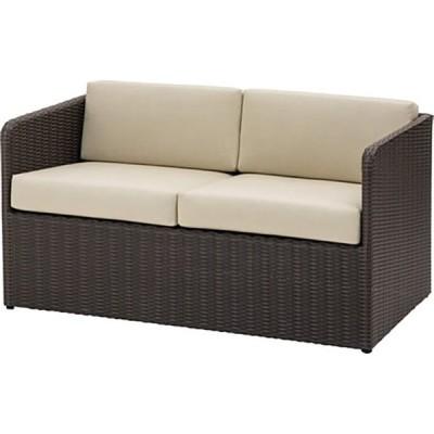 ※お取り寄せ商品/ガーデンファニチャー 2シーターソファ 2人掛け クッション アジアン家具