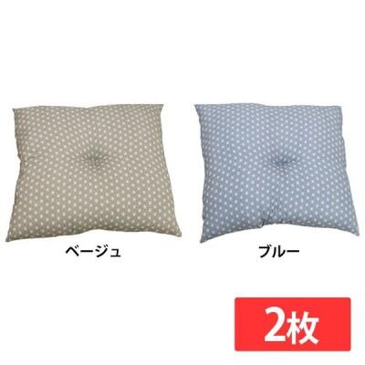 座布団 銘仙判 日本製 『錦』 約55cm×59cm 2枚組 イケヒコ・コーポレーション (代引不可)(TD)