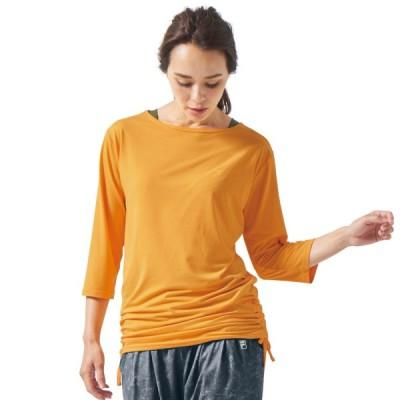 フィラ レイヤード風7分袖Tシャツ イエロー M L LL 3L