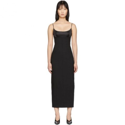 アレキサンダー ワン Alexander Wang レディース ワンピース キャミワンピ ワンピース・ドレス Black Tailored Cami Long Dress