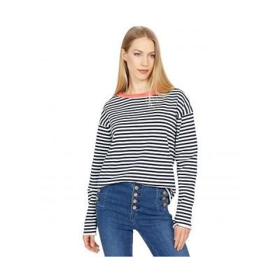Michael Stars ミッシェルスターズ レディース 女性用 ファッション セーター Ringer Pullover Contrast Neck Sweater - Admiral/Fresco