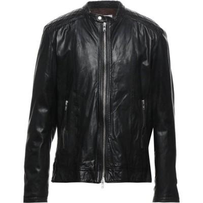 ブリー BULLY メンズ レザージャケット アウター leather jacket Black