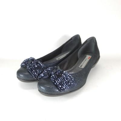 コンポジション9 COMPOSITION9 2323 NVY バレエシューズ リボン モチーフ コンフォート 履きやすいパンプス 履きやすい靴 小さいサイズ 大きいサイズ