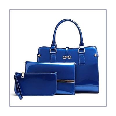 【新品】Patent Leather Ladies Handbag Three-Piece, Child Bag Simple Shoulder Diagonal Fashion Trend-4(並行輸入品)