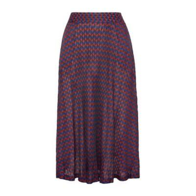 WALES BONNER 七分丈スカート ファッション  レディースファッション  ボトムス  スカート  ロング、マキシ丈スカート レッド