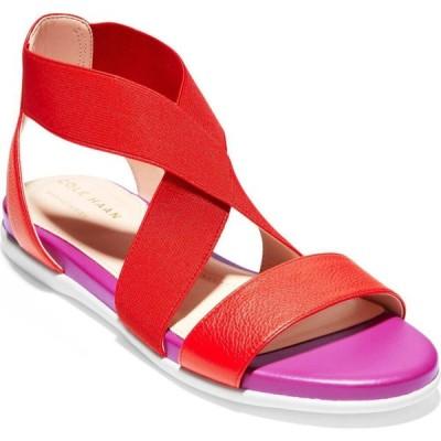 コールハーン COLE HAAN レディース サンダル・ミュール シューズ・靴 Grand Ambition Sandal Tango Red Leather