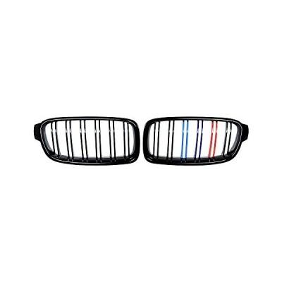 送料無料 Front Kidney Grill Chrome Frame & Black Fence M3 Look Grille Compatibl