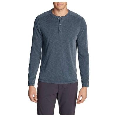 エディー バウアー メンズ シャツ トップス Eddie Bauer Travex Men's Contour Long Sleeve Henley Shirt