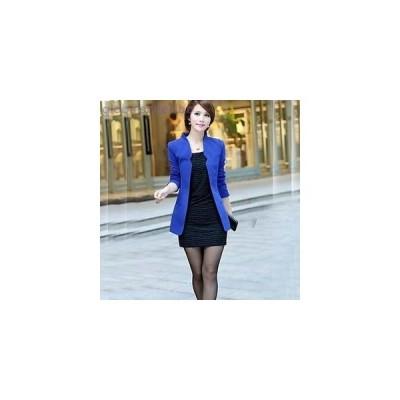 ブレザーコート オフィス パーティー 大人 キュート かわいい ジャケット スリム 大きいサイズ アウター秋冬 レディース 女性 白 黒 ブルー ピンク 赤
