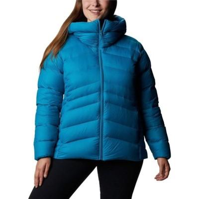 コロンビア Columbia レディース ダウン・中綿ジャケット フード 大きいサイズ Plus Size Autumn Park(TM) Down Hooded Jacket Fjord Blue/Dark Nocturnal