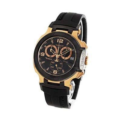 Tissot Men's T048.417.27.057.06 T-Sport Rose-Gold PVD Black Rubber Strap Watch 並行輸入品