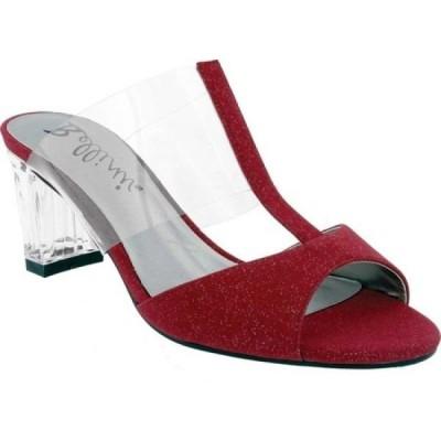 ベリーニ Bellini レディース サンダル・ミュール シューズ・靴 Iran Peep Toe Slide Wine Lucite/Microsuede