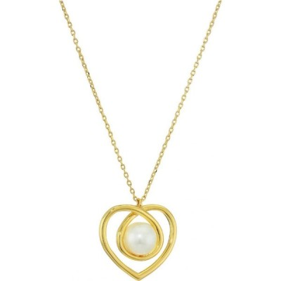 ケイト スペード Kate Spade New York レディース ネックレス ジュエリー・アクセサリー Infinite Hearts Pendant Necklace Cream/Gold