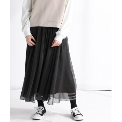 (Honeys/ハニーズ)シアースカート/レディース ブラック