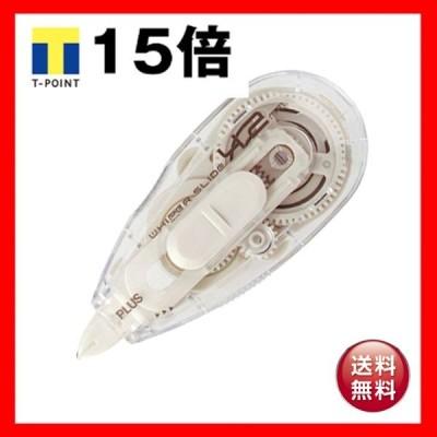 (まとめ) プラス 修正テープ ホワイパースライドベーシックカラー 本体 4.2mm幅×10m ホワイト WH-014 1個 〔×30セット〕