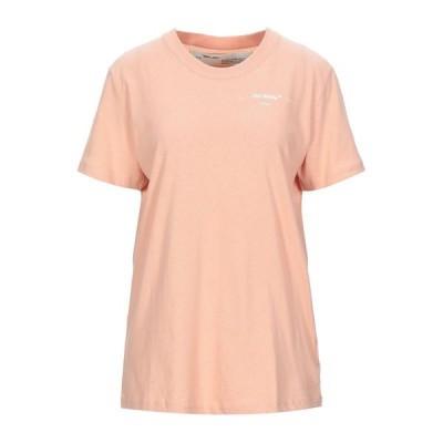 OFF-WHITE Tシャツ  レディースファッション  トップス  Tシャツ、カットソー  半袖 サーモンピンク