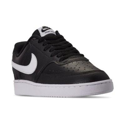 ナイキ メンズ スニーカー シューズ Men's Nike Court Vision Low Casual Sneakers from Finish Line BLACK/WHITE-PHOTON DUST