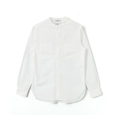 (URBAN RESEARCH/アーバンリサーチ)WORK NOT WORK コットンリネンナローバンドカラーシャツ/メンズ WHITE