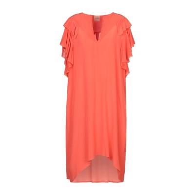 ヌード NUDE ミニワンピース&ドレス オレンジ 40 シルク 100% ミニワンピース&ドレス