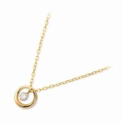 ネックレス レディース Jセレクション イエローゴールド ダイヤモンド 4月の誕生石 誕生日プレゼント ギフト