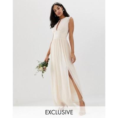 ティー エフ エヌシー TFNC レディース ワンピース ワンピース・ドレス Lace Detail Maxi Bridesmaid Dress Nude