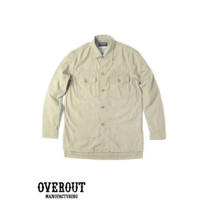 OVEROUT オーバーアウト MILITARY SHIRTS ミリタリーシャツ (BEIGE)