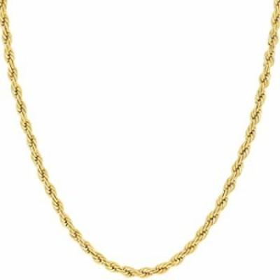ネックレス MCS Jewelry 14K イエローゴールド 2.5mm ロープチェーンネックレス 長さ:16インチ 18インチ 20インチ