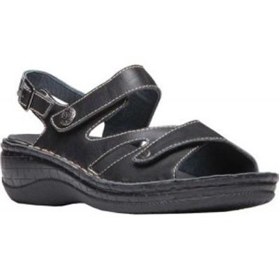プロペット Propet レディース サンダル・ミュール シューズ・靴 Jocelyn Slingback Black Full Grain Leather