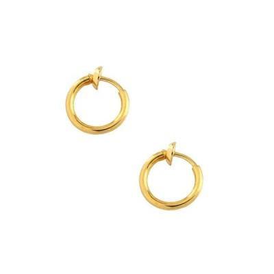 ジュエリーショップエム シンプルフープパイプイヤリング(S) e0090 10mmx1.5mm ゴールド