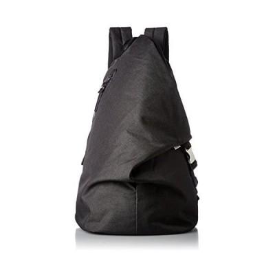 [レジスタ] トライアングル リュックサック タブレットポケット付き メンズ レディース 三角リュック (ブラック One Size)