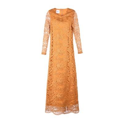 ANNARITA N TWENTY 4H ロングワンピース&ドレス オークル 42 100% ポリエステル ロングワンピース&ドレス